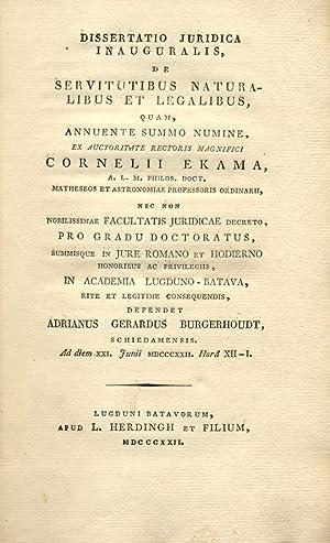 """Raccolta rilegata di dieci """"Dissertatio juridicae inauguralis"""" presso Accademie e Atenei ..."""
