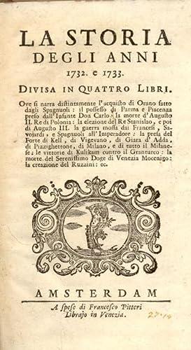 LA STORIA DEGLI ANNI (1730-1797). 1732-1796.