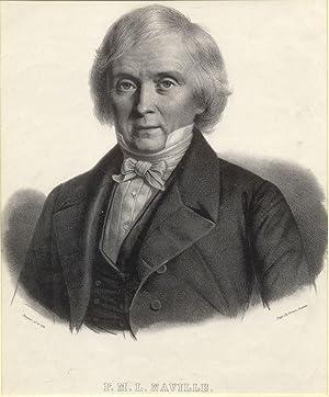 Litografia raffigurante il pedagogista svizzero François Marc Louis Naville (Ginevra, 1784-...