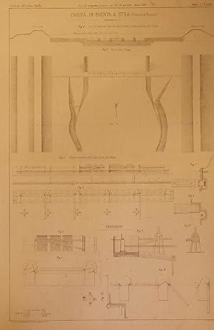 """CHIUSA IN BRENTA A STRA (Provincia di Venezia). Tavola illustrativa tratta da """"Giornale del ..."""