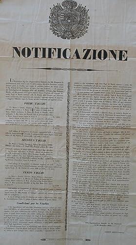 Notificazione del 5 novembre 1848 della Soprintendenza Generale delle RR.Possessioni del Granducato...