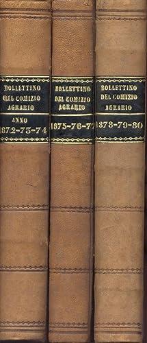BOLLETTINO DEL COMIZIO AGRARIO PARMENSE. 1872-1880.