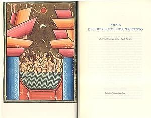 POESIA DEL DUECENTO E DEL TRECENTO.: MUSCETTA Carlo / RIVALTA Paolo (a cura di).