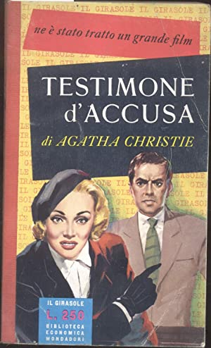 """TESTIMONE D'ACCUSA. (""""Witness for the Prosecution"""").: CHRISTIE Agatha."""