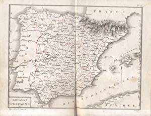 ATLAS DE L'ITINÉRAIRE DESCRIPTIF DE L'ESPAGNE.: De LABORDE Alessandro.