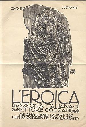 """Locandina del fascicolo n°41 della rivista """"L'Eroica"""","""