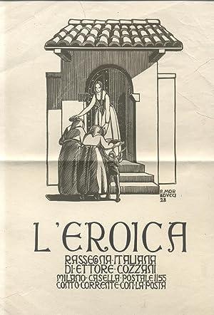 """Locandina della rivista """"L'Eroica"""", illustrata da Publio"""