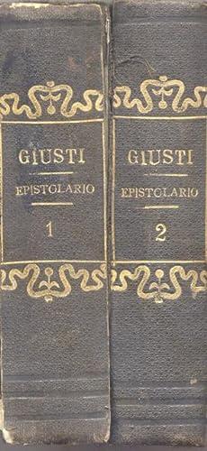 EPISTOLARIO. Ordinato da Giovanni Frassi e preceduto dalla Vita dell'Autore.: GIUSTI Giuseppe.