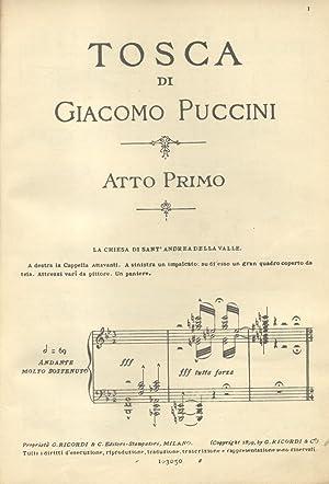 TOSCA (1900). Melodramma in tre atti di V.Sardou, L.Illica, G.Giacosa. Riduzione per Canto e ...