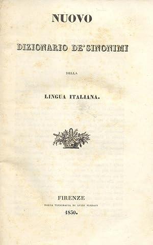 DIZIONARIO DEI SINONIMI DELLA LINGUA ITALIANA.: TOMMASEO Nicolò.