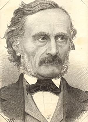 Incisione raffigurante il letterato Cesare Cantù (Brivio, 1804-1895).