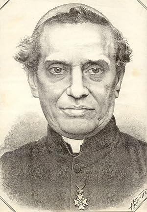 Incisione raffigurante il Cardinale Giacomo Antonelli (Sonnino (LT), 1806-1876).