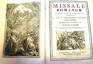 MISSALE ROMANUM. Ex Decreto Sacrosancti Concilii Tridentini restitutum, SS.Pii V. Pontificis Maximi...