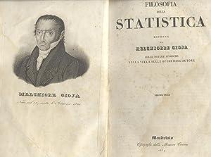 FILOSOFIA DELLA STATISTICA. Colle notizie storiche sulla vita e sulle opere dell'Autore.: ...