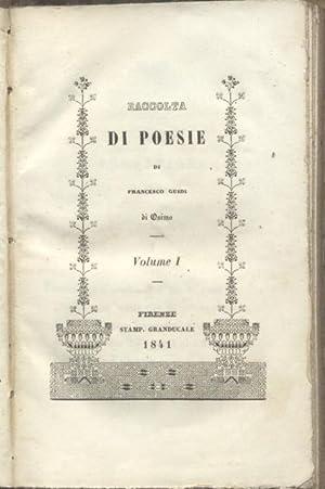 RACCOLTA DI POESIE DI FRANCESCO GUIDI DA OSIMO.: GUIDI Francesco.