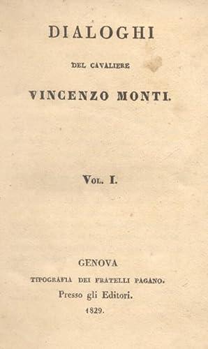 DIALOGHI / TRAGEDIE.: MONTI Vincenzo.