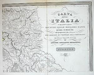 Carta del Ducato di Carinzia e del regno Illirico fino alla città di Trieste.