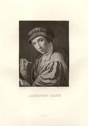 Incisione raffigurante il pittore Alessandro Allori (Firenze, 1535-1607) impressa nel XIX secolo. ...
