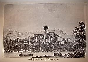"""VEDUTA DI VICO PISANO. Riproduzione tratta da """"Viaggio pittorico della Toscana"""" di Jacopo..."""