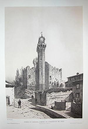BORDS DU SERCHIO, CONFINS DE LUCCA E DE PISA (Ruines de Castello-a-Nozzano). Riproduzione tratta ...