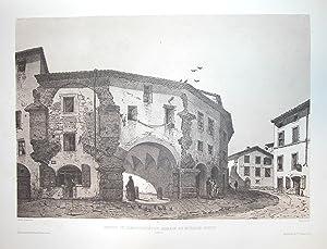 RESTES DE L'AMPHITHEATRE ROMAIN AU MERCATO-NUOVO. Lucca. Riproduzione tratta dall'album &...