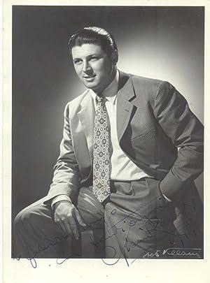 Fotografia originale con dedica e firma autografa del tenore Gianni Raimondi (Bologna, 1923-2008).