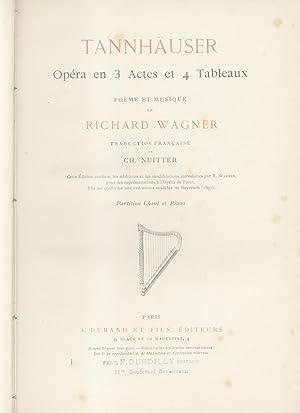 TANNHAUSER (1845). Opéra en trois Actes et quatre Tableaux. Traduction française de ...