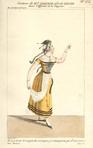 Incisione raffigurante il soprano Marie Dubois, M.le Casimir nel costume di scena di Louise ne &...