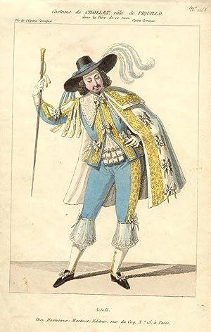 Incisione raffigurante il baritono e tenore Jean Baptiste Chollet nel costume di scena del secondo ...
