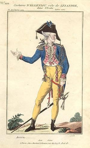 Incisione raffigurante il tenore Pierre Jean Baptiste Elleviou (Rennes, 1769-1842) nel costume di ...