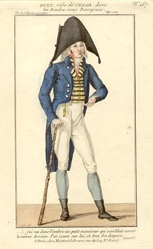 Incisione raffigurante il cantante lirico Auguste Huet (? - 1832) nel costume di scena di Cesare ...