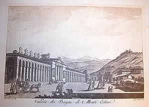 """VEDUTA DEI BAGNI DI MONTECATINI. Riproduzione tratta da """"Viaggio pittorico della Toscana""""..."""
