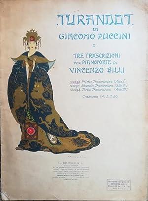 """TURANDOT"""" DI GIACOMO PUCCINI (1926). Spartito originale con coperta illustrata in policromia ..."""