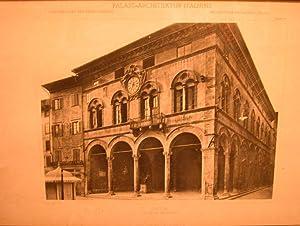 """LUCCA. PALAZZO PRETORIO. Tavola fotografica n°69 proveniente dall'Opera """"Architettura..."""