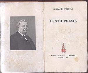 CENTO POESIE.: PASCOLI Giovanni.