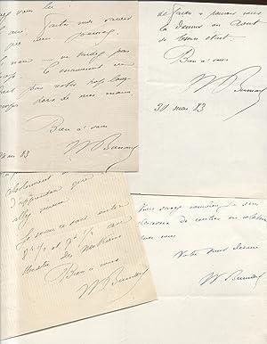 Quattro lettere autografe firmate del letterato e librettista francese William Busnach.