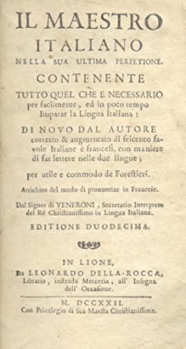 LE MAITRE ITALIEN DANS SA DERNIERE PERFECTION.: VENERONI Giovanni.