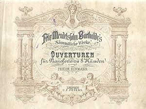 OUVERTUREN. Für Pianoforte zu 8 Händen., arrangirt von Friedrich Hermann (Pl.n°6026)....