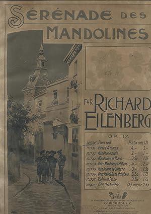 SERENADE DES MANDOLINES. Riduzione per Pianoforte Solo (Op.117). timbro a secco Maggio 1898 (Pl.n&...