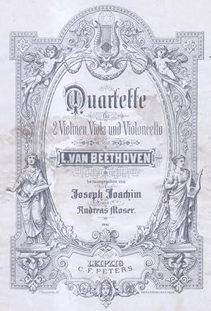 QUARTETTE FUR 2 VIOLINEN, VIOLA UND VIOLONCELLO.: BEETHOVEN Ludwig van/