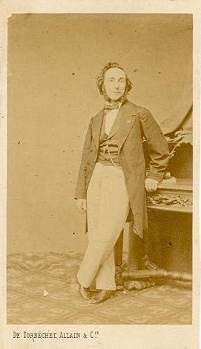 """Fotografia originale raffigurante il violinista Ernesto Camillo Sivori nel 1860. """"Photographie..."""