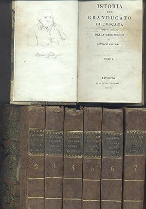 ISTORIA DEL GRANDUCATO DI TOSCANA SOTTO IL GOVERNO DELLA CASA MEDICI. 1820-1821.: GALLUZZI Riguccio...