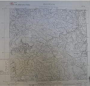 GALLICANO. Carta a cura dell'Istituto Geografico Militare. Foglio n°96 della Carta d'...