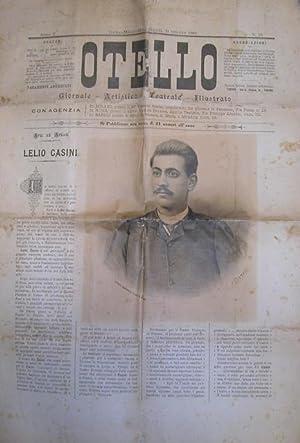 Ritratto in litografia e biografia del baritono Lelio Casini (Pisa, 1865-1910) pubblicato sul ...