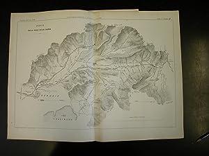 """CARTA E PROFILI DELLA VALLE DELLA CHIANA. Due carte di G.Levi in litografia Pozzo, tratte da """"..."""
