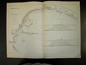 """PIANTA DEL PORTO DI NAPOLI. Una carta in Litografia Pozzo, tratta da """"Giornale del Genio ..."""