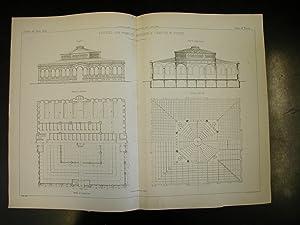 EDIFIZIO PER PUBBLICO MERCATO E LAVATOIO IN TORINO. Due tavole tecniche di G.Pozzo in litografia, ...