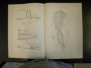 """ROTTA DI SECCHIA IN SOLIERA. Una tavola in Litografia Pozzo, tratta da """"Giornale del Genio ..."""