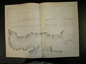 COROGRAFIA, PROFILO LONGITUDINALE E SEZIONI DEL FIUME PLATANI. Una tavola in Litografia Pozzo, ...