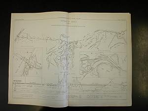 ISTMO DI SUEZ. Planimetria dell'Istmo secondo la triangolazione fatta dall'Ing. Larousse ...